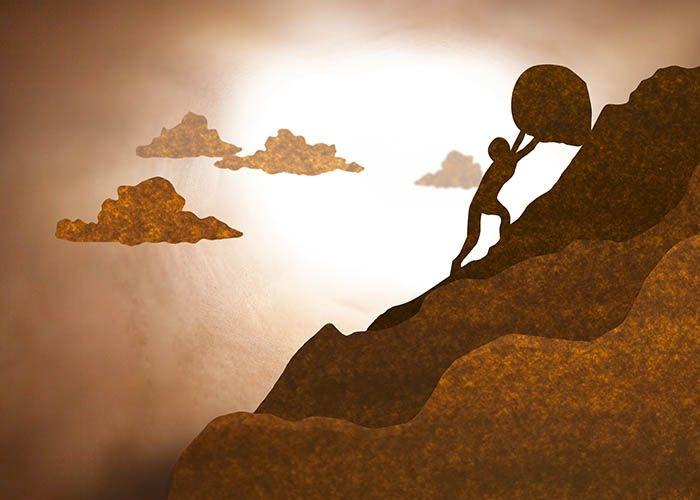Empujar la roca